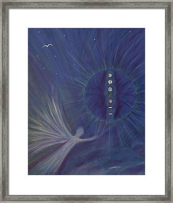 Archangel Raphael And The 5th Ray Framed Print