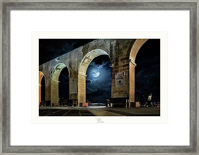 Arched Moon Framed Print