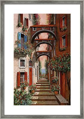 Gli Archetti Rossi Nuovi Framed Print by Guido Borelli