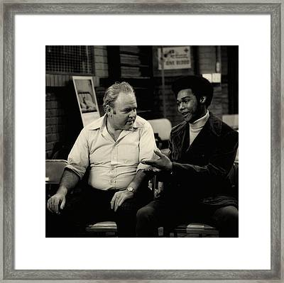 Archie And Lionel - All In The Family 1971 Framed Print