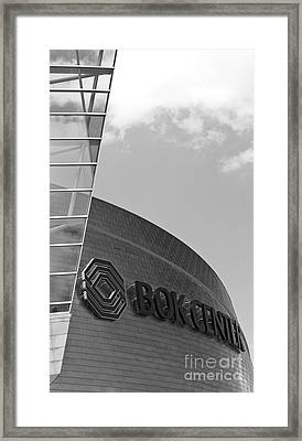 Architectural Modern Building The Bok Center In Tulsa Framed Print by ELITE IMAGE photography By Chad McDermott