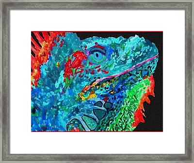 Arch's Iguanas Framed Print