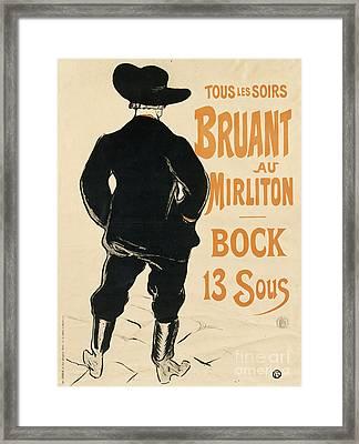 Aristide Bruant Framed Print
