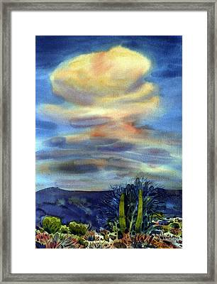 Arizona Thunderhead Framed Print by Donald Maier