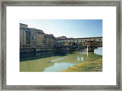 Arno River In Florence Italy Framed Print by Marna Edwards Flavell