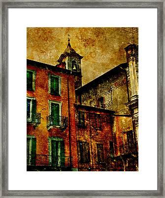 Arona Italy Framed Print by T J Hankins