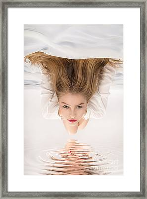Aroused Blond Woman Framed Print by Aleksey Tugolukov