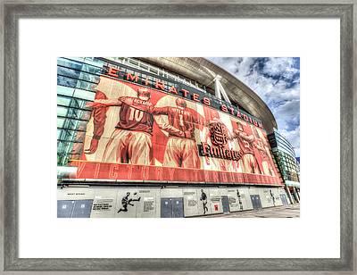 Arsenal Fc Emirates Stadium London Framed Print by David Pyatt
