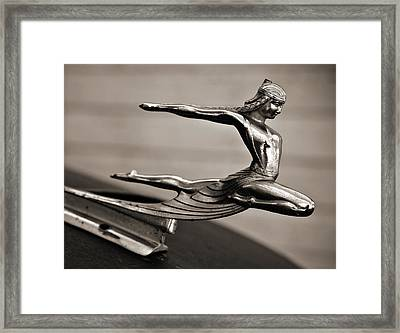 Art Deco Hood Ornament Framed Print by Marilyn Hunt