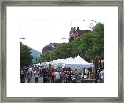 Art Festival Vendors Framed Print by Lila Mattison