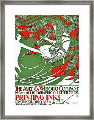 Art Nouveau Poster Depicting Pan, 1895 Framed Print by William Bradley