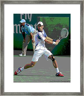Art Of Tennis Framed Print by Carl Schroeder III
