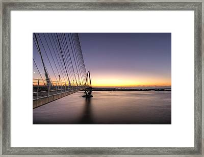 Arthur Ravenel Jr Bridge Sunrise Framed Print by Dustin K Ryan