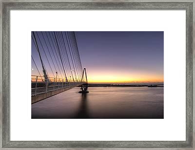 Arthur Ravenel Jr Bridge Sunrise Framed Print by Dustin K Ryan