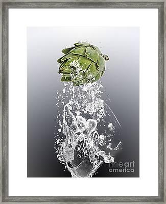 Artichoke Splash Framed Print by Marvin Blaine