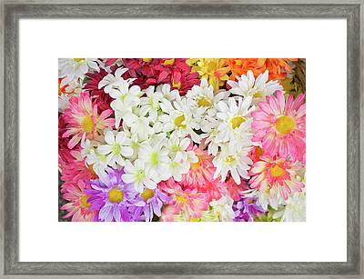 Artificial Flowers Framed Print