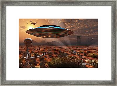Artists Concept Of Stealth Technology Framed Print by Mark Stevenson
