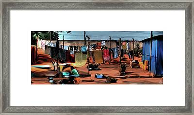 Arts Center Washline Framed Print