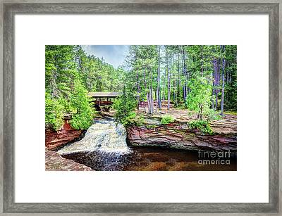 As The Water Falls Framed Print