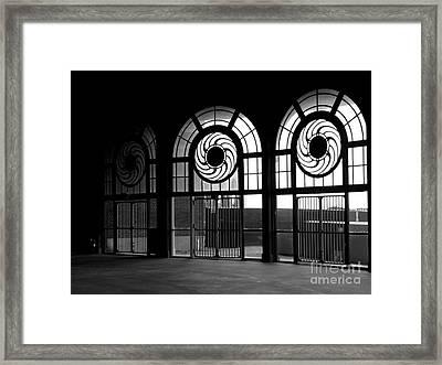 Asbury Park Casino Carousel House Interior Framed Print by Ben Schumin