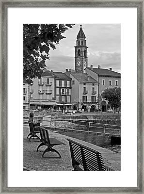 Ascona - Ticino Framed Print by Joana Kruse