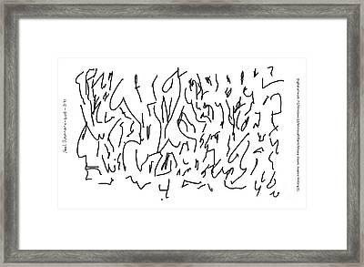 Asemic Writing 01 Framed Print