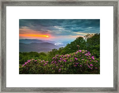 Asheville North Carolina Blue Ridge Parkway Scenic Landscape Framed Print by Dave Allen