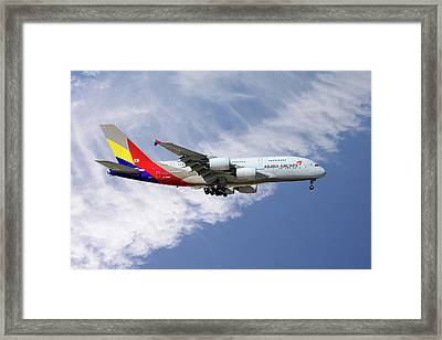 Asiana Airlines Airbus A380-841 Framed Print