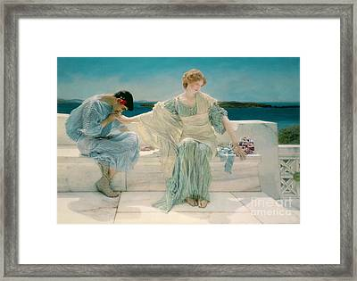 Ask Me No More Framed Print