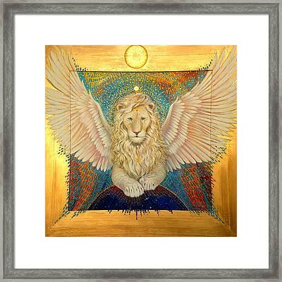 Aslan  Framed Print by Silvia  Duran