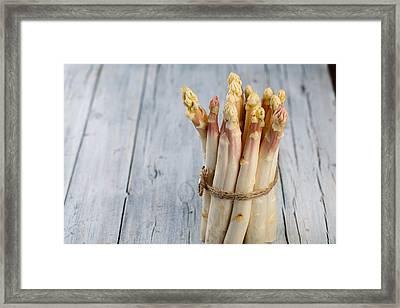 Asparagus Framed Print by Nailia Schwarz