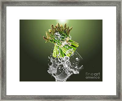 Asparagus Splash Framed Print by Marvin Blaine