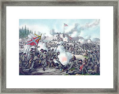 Assault On Fort Sanders Framed Print by American School