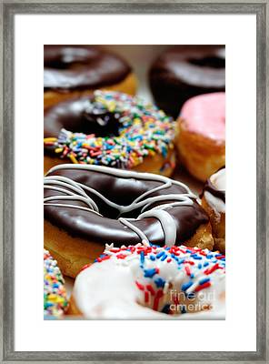 Assorted Doughnuts Picture Framed Print by Paul Velgos