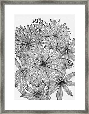 Asters Framed Print by Elena Kuleshova