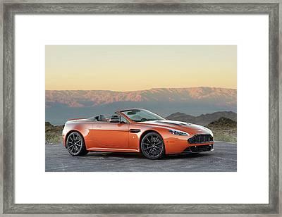 Aston Martin V12 Vantage S Roadster Framed Print by Drew Phillips