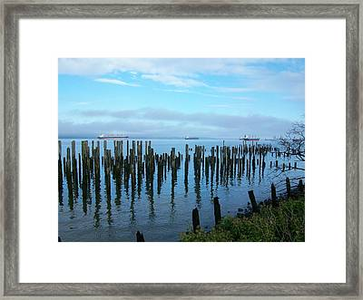 Astoria Ships II Framed Print