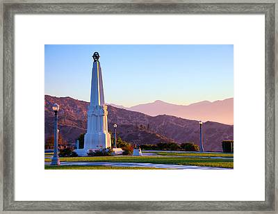 Astronomers Monument In Griffith Park Framed Print