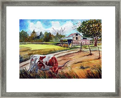 At Home On The Range Framed Print by Ron Stephens