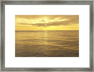 Framed Print featuring the digital art Ocean View by Mark Greenberg