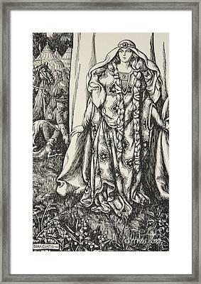 At The Door Of One Stood A Lady Framed Print