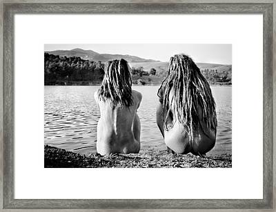 At The Lake Framed Print by Justyna Lorenc