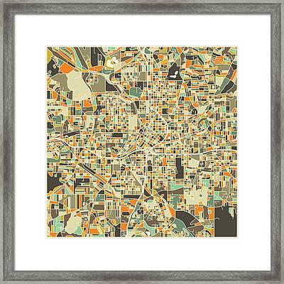 Atlanta Map Framed Print