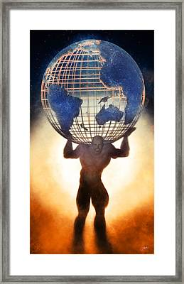 Atlas And The Luminous Universe Framed Print