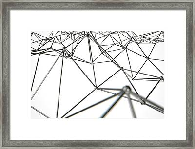 Atom Array Abstract Framed Print by Allan Swart