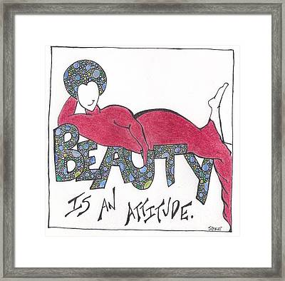 Attitude Framed Print by Sara Young