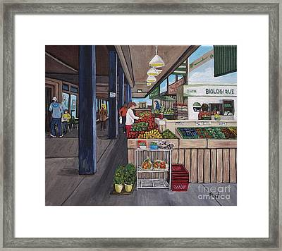 Atwater Market Framed Print by Reb Frost