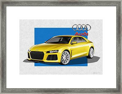 Audi Sport Quattro Concept With 3 D Badge  Framed Print
