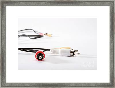 Audio And Video Plugs Framed Print by Tal Bedrack