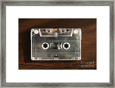 Audio Tape Cassette  Framed Print